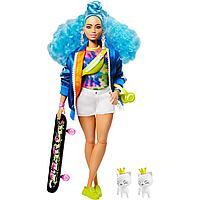 Barbie Экстра Модная Кукла с голубыми волосами №4, Барби