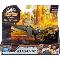 Мир Юрского периода Фигурка динозавра Монолофозавр, атакующий