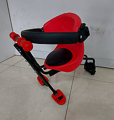 Детское сидение на велосипед. Крепится спереди на раму. Kaspi RED. Рассрочка.