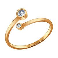 Кольцо из серебра с фианитом SOKOLOV 93010520