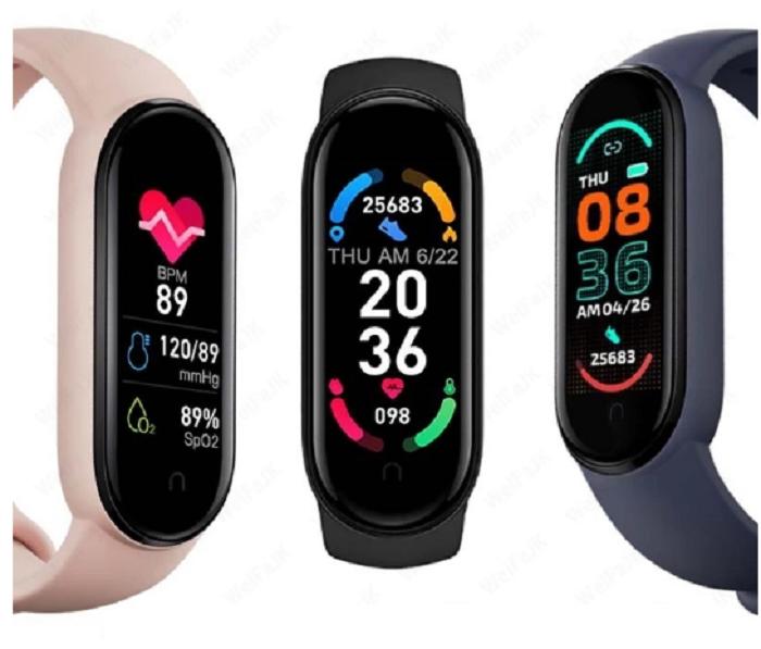 Браслет здоровья Smart Band M6 давления, пульса и кислорода в крови.