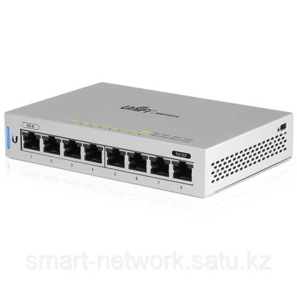 8-Port Fully Managed Gigabit Switch with POE passthrough 5-pack