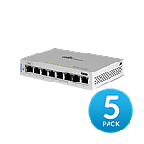 8-Port Fully Managed Gigabit Switch with POE passthrough 5-pack, фото 6