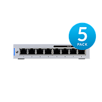 8-Port Fully Managed Gigabit Switch with 4 IEEE 802.3af Includes 60W Power Supply 5 pack