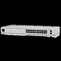24-портовый управляемый коммутатор PoE и SFP. UniFi 24Port Gigabit Switch with PoE and SFP