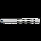 24-портовый управляемый коммутатор PoE и SFP. UniFi 24Port Gigabit Switch with PoE and SFP, фото 3