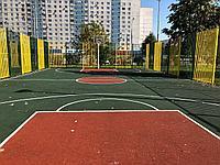 Строительство баскетбольных площадок (28м х 15м = 420 м2)
