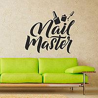 """Наклейка для салона красоты """"Nail Master"""""""