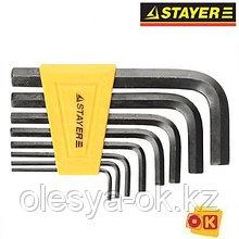 Набор шестигранных ключей 2-10 мм 8шт STAYER STANDARD