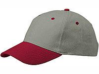 Бейсболка Grip, серый/красный