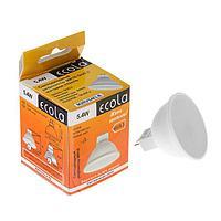 Лампа светодиодная Ecola, 5.4 Вт, GU5.3, 4200 K, дневной белый, матовое стекло