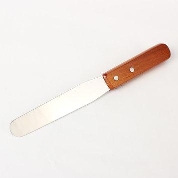Лопатка-палетка с деревянной ручкой, прямая, 26,5 см