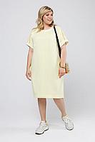 Женское летнее желтое большого размера платье Pretty 2009 желтый 52р.