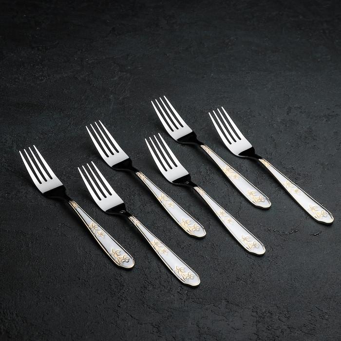 Набор вилок столовых Доляна «Ринн», 20 см, 6 шт