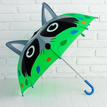 Зонт детский фигурный «Енот»