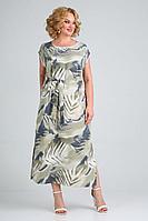 Женское летнее льняное большого размера платье Jurimex 2537 54р.