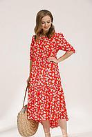 Женское летнее из вискозы большого размера платье Lyushe 2673 44р.