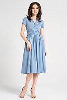 Женское летнее из вискозы голубое платье Панда 722280p темно-голубой 42р.