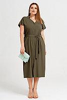 Женское летнее из вискозы зеленое большого размера платье Панда 41780z хаки 48р.