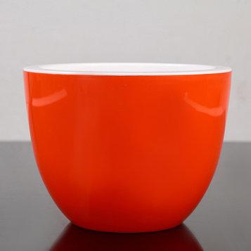 Кашпо со вставкой «Орион», 2,3 л, цвет оранжевый
