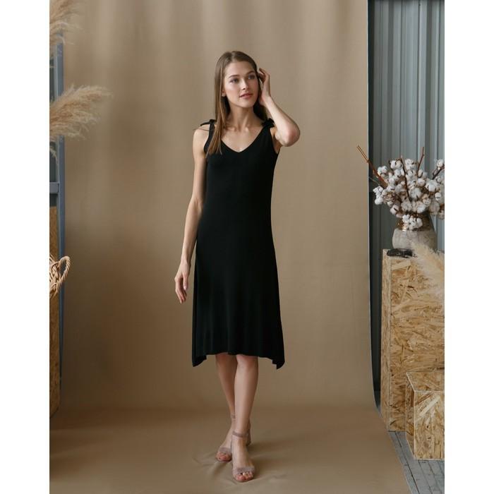 """Платье женское MINAKU """"Марте"""", вид 2, размер 44-46, цвет чёрный"""
