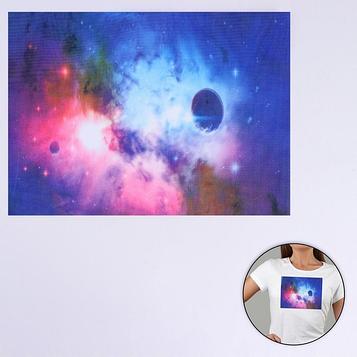 Пришивная аппликация «Космос», 3D, 27 × 20 см
