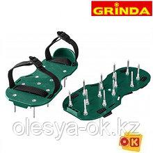Аэратор ножной для газона, сандалии GRINDA GA-26