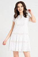 Женское летнее хлопковое белое платье Панда 20280z белый 42р.