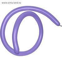 Шар для моделирования 260, стандарт, пастель, фиолетовый, набор 100 шт.