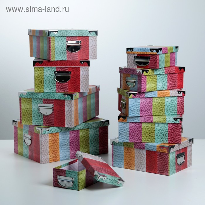 Набор коробок 10 в 1, 37,5 х 29 х 16 - 19 х 13 х 7,5 см - фото 1