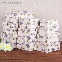"""Набор коробок 10 в 1 """"Лаванда"""", 37,5 х 29 х 16 - 19 х 13 х 7,5 см"""
