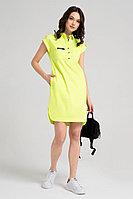Женское летнее хлопковое желтое платье Панда 40280z желтый 42р.
