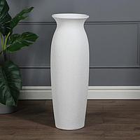 """Ваза напольная """"Луиза"""" кожа, белая , керамика, 71 см"""