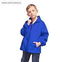Ветровка детская, рост 128 см, цвет синий