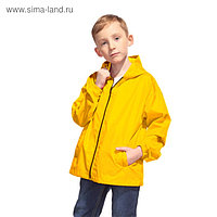 Ветровка детская, рост 152 см, цвет жёлтый