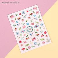 Наклейки для ногтей «Цветы»