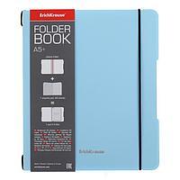 Тетрадь А5+, 48 листов в клетку FolderBook Pastel, съемная пластиковая обложка, блок офсет, голубая
