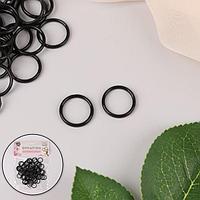 Кольцо для бретелей, пластиковое, 15 мм, 100 шт, цвет чёрный