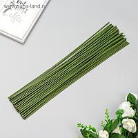 """Проволока для изготовления искусственных цветов """"Зелёная"""" 40 см сечение 2,5 мм"""