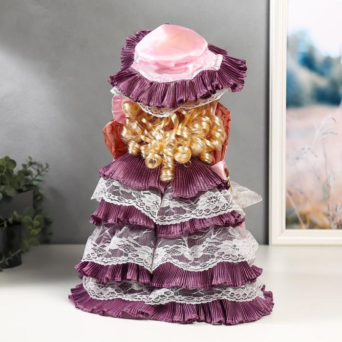 """Кукла коллекционная керамика """"Леди Оливия в платье цвета пыльная роза"""" 40 см - фото 4"""