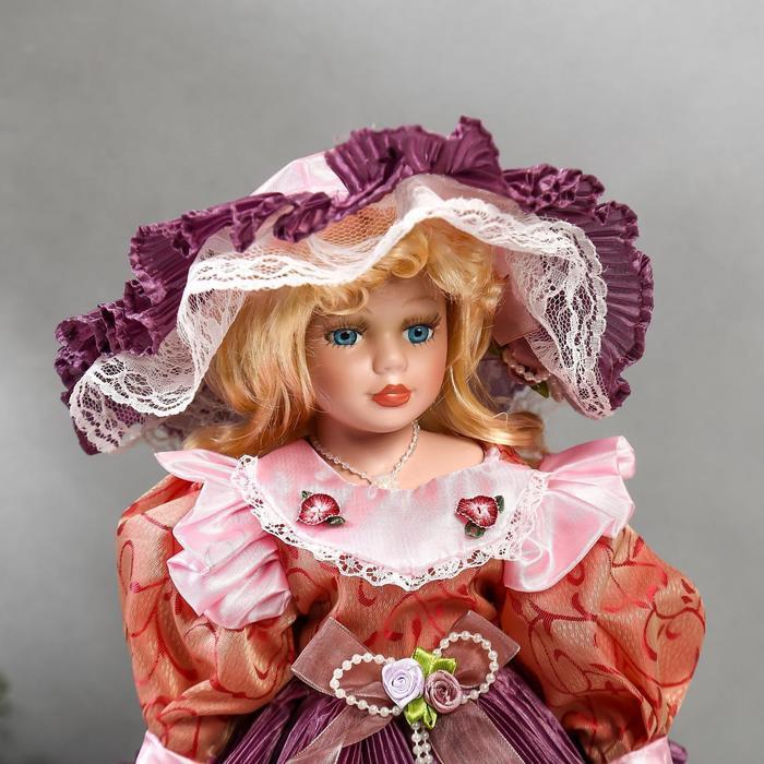 """Кукла коллекционная керамика """"Леди Оливия в платье цвета пыльная роза"""" 40 см - фото 5"""