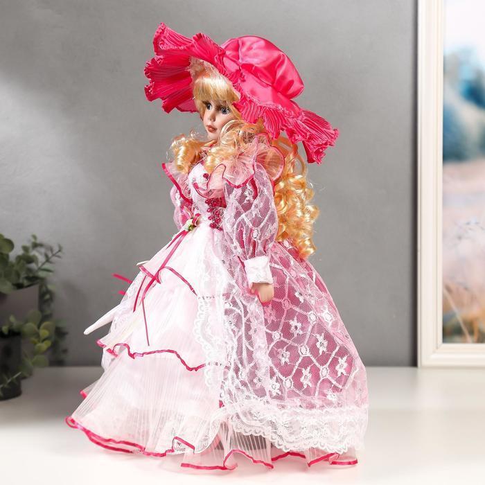 """Кукла коллекционная керамика """"Леди Виктория в розовом платье"""" 40 см - фото 2"""