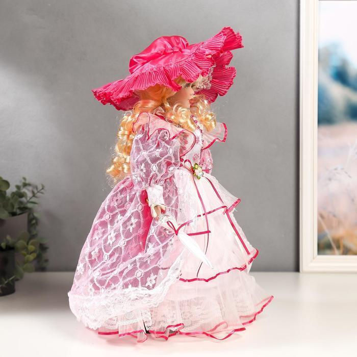 """Кукла коллекционная керамика """"Леди Виктория в розовом платье"""" 40 см - фото 3"""