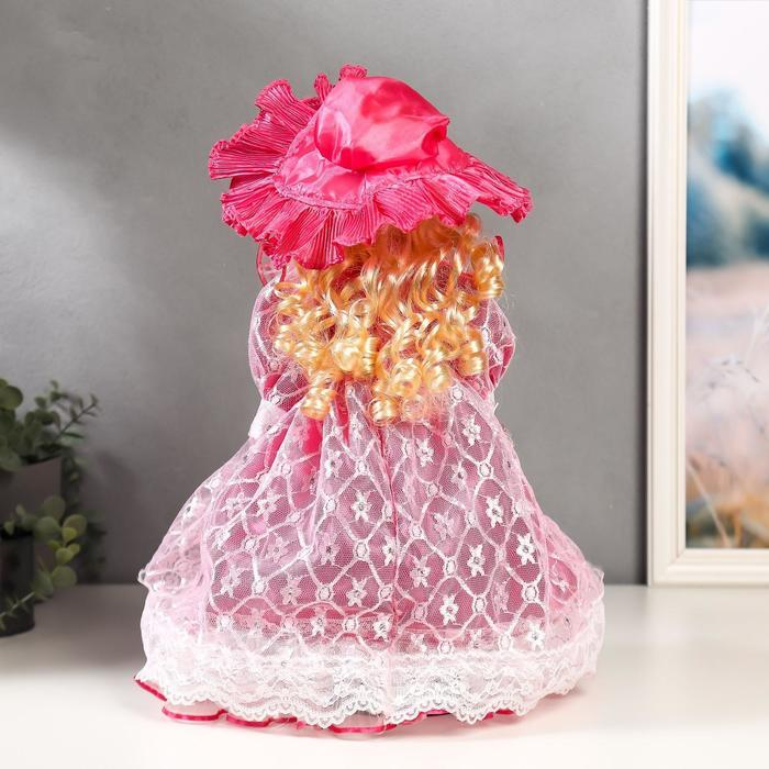 """Кукла коллекционная керамика """"Леди Виктория в розовом платье"""" 40 см - фото 4"""