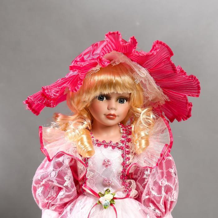 """Кукла коллекционная керамика """"Леди Виктория в розовом платье"""" 40 см - фото 5"""