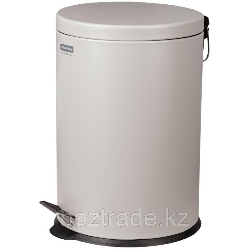 Ведро-контейнер для мусора (урна) OfficeClean Professional, 20л., серое, матовое