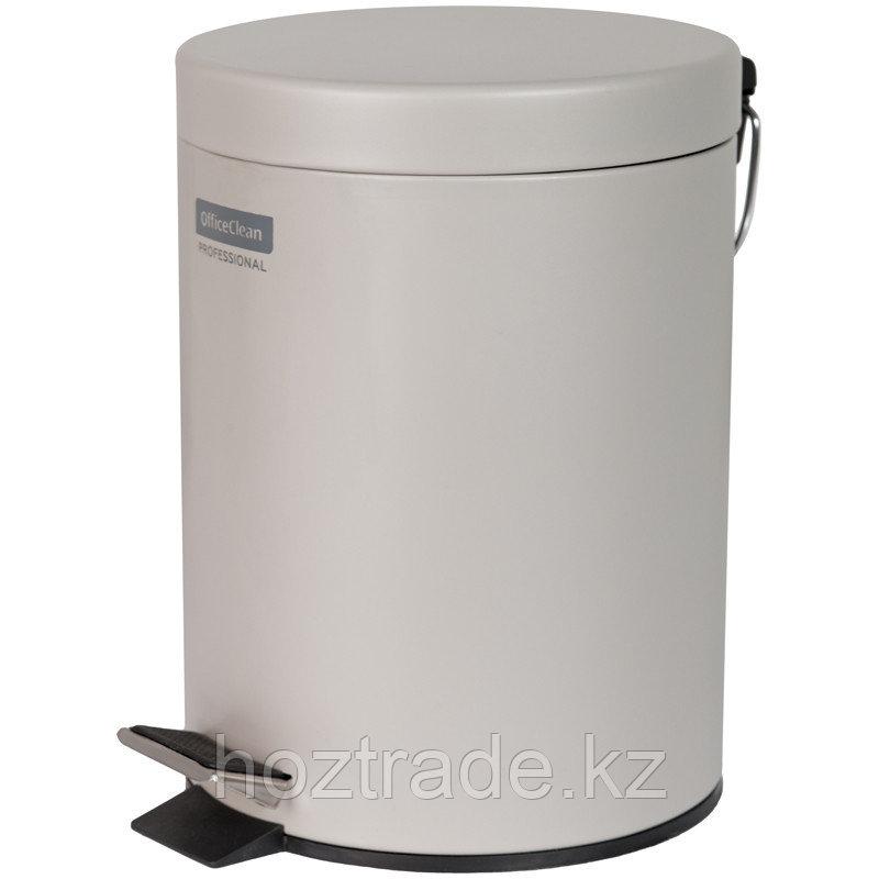 Ведро-контейнер для мусора (урна) OfficeClean Professional, 5л., серое, матовое