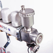 """Коллекторный блок из нержавеющей стали с термостатическими клапанами и расходомерами 1"""" 7 вых. x 3/4"""" VALTEC, фото 3"""