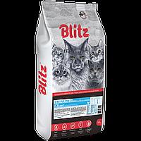 BLITZ STERILISED CATS CHICKEN, сухой корм для стерилизованных кошек с Курицей, 10 кг