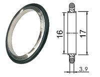 Кольцо центрирующее KF16 (NW16) с витоновым уплотнением, Нержавеющая сталь